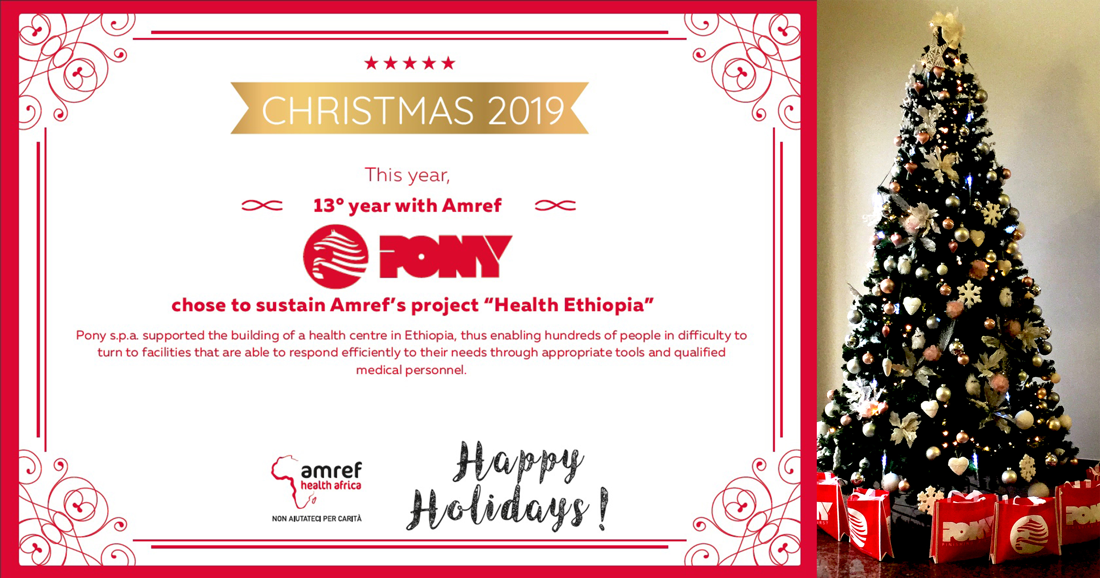 MERRY CHRISTMAS FROM PONY AND AMREF