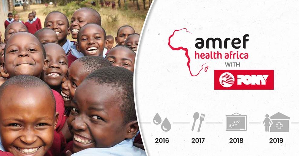 PONY SUPPORTS AMREF HEALTH AFRICA